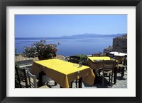 Framed Outdoor Restaurant, Monemvasia, Greece