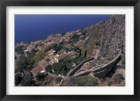 Framed View from Upper to Lower Village, Monemvasia, Greece