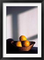 Framed Oia, Santorini, Greece, Oranges in a Basket