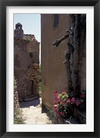 Framed Narrow cobblestone Pathway, Monemvasia, Greece