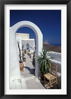 Framed Chora Houses, Blue Aegean Sea, and Agave Tree, Cyclades Islands, Greece