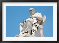 Framed Aristotle statue, Greek Philosopher, Athens, Greece