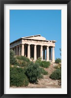 Framed Temple of Hephaestus, Ancient Architecture, Athens, Greece