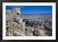Framed View of Athens From Acropolis, Greece