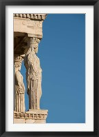Framed Greece, Athens, Acropolis The Carved maiden columns of the Erectheum