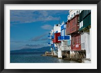 Framed Greece, Cyclades, Mykonos, Hora 'Little Venice' area