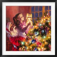 Framed Santa Little Angel Bright