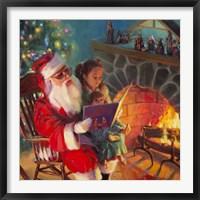 Framed Santa Christmas Story