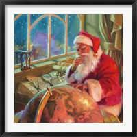 Framed Santa World Traveler