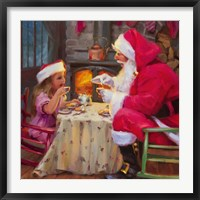 Framed Santa Tea For Two