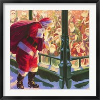 Framed Santa An Unforeseen Encounter
