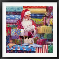 Framed Santa All Wrapped Up