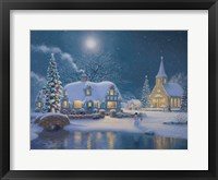 Moonlight Glow Framed Print