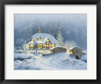 Christmas At Kirby Cottage Framed Print