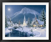 Christmas Village Framed Print