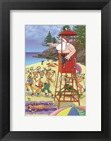 Surf Life Savers Framed Print
