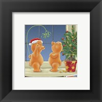 Under The Mistletoe Framed Print