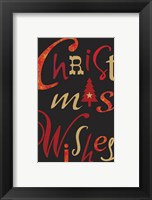 Framed Christmas Text Black