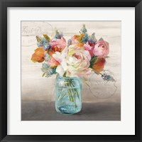 Framed French Cottage Bouquet II