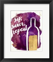 Watercolor Wine II Framed Print