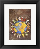 Framed Holiday Children Around The World