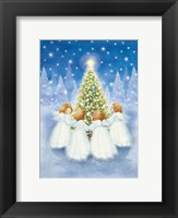 Framed Christmas Tree and Gathering Angels