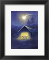 Framed Glowing Evening Manger