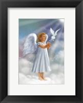 Framed Angela and Flying Dove