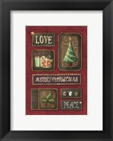 Framed Love Merry Christmas Peace