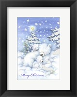 Framed Merry Christmas Polar Bears