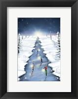 Framed Ice Skating On Christmas Tree Road