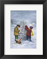 Framed Christmas Tree Kid Check