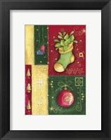 Framed Holiday Sock and Christmas Ornament