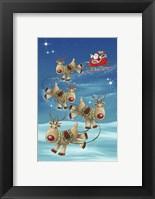 Framed Santa and Dear Touch Down