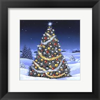 Framed Christmas Tree and Glowing Lights