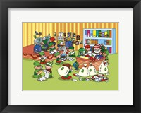 Santa's Busy Workshop Framed Print