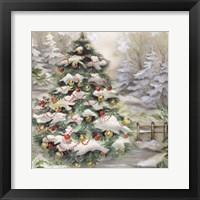 Framed Christmas Tree In Snowy Woods