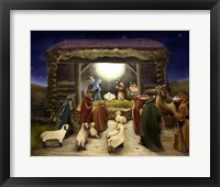 Framed Three Kings Visit The Manger