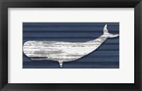 Rustic Whale Framed Print