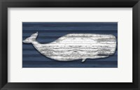 Weathered Whale Framed Print