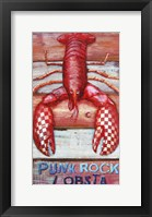 Framed Punk Rock Lobsta