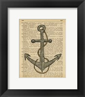 Framed Nautical Series - Anchor