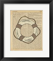 Nautical Series - Life Preserver Framed Print