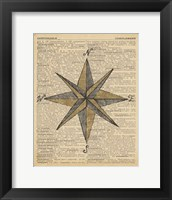 Nautical Series - Nautical Star Framed Print