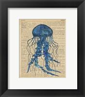 Vintage Jellyfish Framed Print