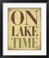 Framed On Lake Time