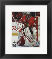 Framed Corey Crawford Game 6 of the 2015 Stanley Cup Finals