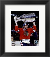 Framed Andrew Shaw with the Stanley Cup Game 6 of the 2015 Stanley Cup Finals