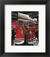 Framed Jonathan Toews & Patrick Kane with the Stanley Cup Game 6 of the 2015 Stanley Cup Finals