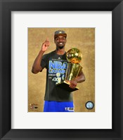 Framed Harrison Barnes with the NBA Championship Trophy Game 6 of the 2015 NBA Finals